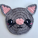 Kawaii Kitty Cat Applique pattern