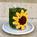 Sunflower Candle Cozy pattern