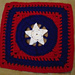 Star of Honor Afghan Square pattern