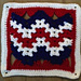 Waves of Liberty Afghan Square pattern