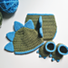 Dinosaur Hat, Diaper Cover, and Booties Photo Prop pattern