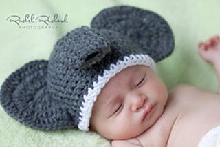 Crochet Baby Elephant Hat Beanie Diaper Cover Set Newborn Infant ...   213x320