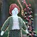 Raglan Sleeved Cardigan for Tiny Rag Dolls pattern