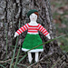 Striped Bodice Dress for Tiny Rag Dolls pattern
