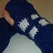 Timelord inspired fingerless gloves pattern