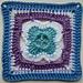 LD-0110 Floral Afghan block pattern
