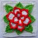 Poinsettia in square pattern