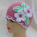APPLE BLOSSOMS crocheted hat pattern