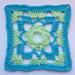 LD-0112 geometrical afghan block pattern
