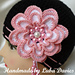 MISS ROSY hat for girls with big 4 layers flower pattern