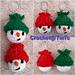 Snowman Keychain pattern
