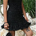 Black Fur Dress pattern