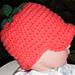 """Baby Tomato"" Newborn Cap Hat pattern"