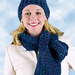 Easy Hat and Keyhole Scarf: Scarf (archived) pattern