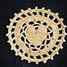 Encircled Heart Coaster pattern