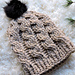 Oatmeal Cable Slouch Hat pattern