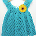 Tulip Chevrons Baby Dress pattern