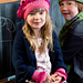 Little Girl's Beret and Wristers pattern