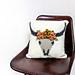 040- Bull's skull pillow cover pattern