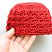 Blanket Stitch Baby Hat pattern