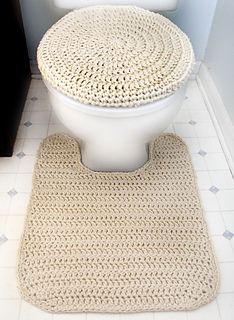 Crochet Toilet Seat Cover.Ravelry Toilet Seat Cover And Contour Rug Pattern By Rachel