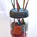 Mason Jar Crochet Hook Holder pattern
