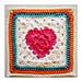 Granny Heart Square pattern