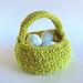 Easter Grass Crochet Basket pattern