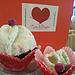 Cuffietta e scarpine Cupcake pattern