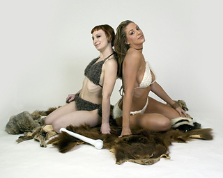 Naughty Needles Outtakes: Cave Girls Pinup