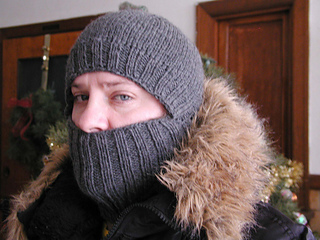 Gray Heather Wool Balaklava