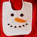 Snowman Baby Bib pattern