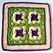 "Sweet Peas 12"" Square pattern"