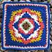 Starburst Clusters Afghan Square pattern