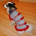 Ribbons and Bows Dog Sweater pattern