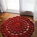 tappetino color ruggine pattern