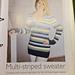 Multi-striped sweater pattern