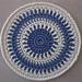 Round crochet table mat or potholder pattern