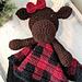 Miss Moose Blanket Buddy pattern