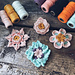Silk Yarn Bobbin Flower Collection pattern