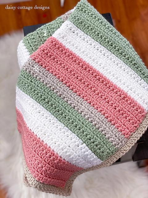 Ravelry Easy Textured Stripes Blanket Pattern By Lauren Brown