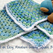 Miniature Granny Square Baby Blanket pattern