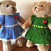 Heart to Heart Bear Short Sleeve Dress pattern