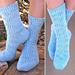 Spring Snowflower Socks pattern
