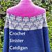 Crocheted Sinister Catdigan pattern