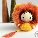 Shaggy Lion Doll. Toy from the Tanoshi series. pattern