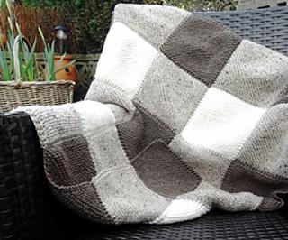 Blanket Square Diagonal Garter Stitch