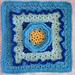 "Frostbloom 12"" Afghan Square pattern"