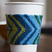 Chevron Coffee Cozy: Two Ways pattern