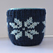 Fair Isle Snowflake Mug Cosy pattern